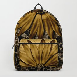 Animal Print Brown and Gold Animal Medallion Backpack