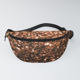 Beautiful Bronze Orange Brown glitters sparkles Fanny Pack