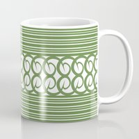 striped Mugs featuring Striped by Panda