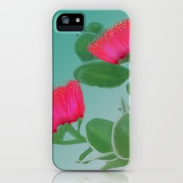 Hawaii Red Lehua Blossom iPhone Case