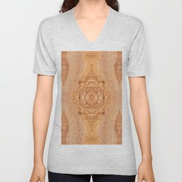 Olive wood surface texture abstract Unisex V-Neck