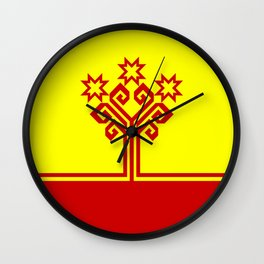 chuvashia flag Wall Clock