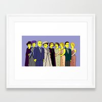 downton abbey Framed Art Prints featuring Downton Abbey - Cast Upstairs - Nine by DonnaHuntriss