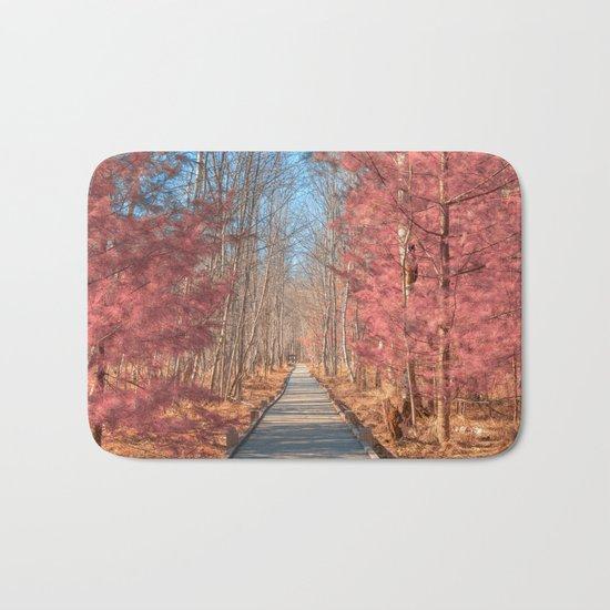 Jesup Boardwalk Trail - Tickle Me Pink Bath Mat