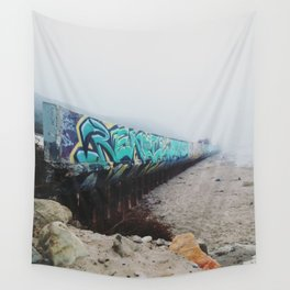 Beach Graffiti Wall Tapestry