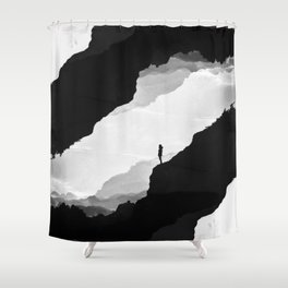 White Isolation Shower Curtain