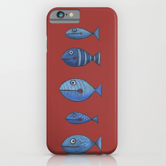 5 pececillos azules iPhone & iPod Case