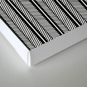 Herringbone Stripe Canvas Print