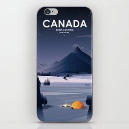 Alone In Nature - Winter Night iPhone Skin