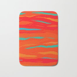 Ripped Turquoise Sunset Sky Bath Mat