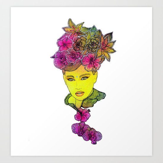 As it´s almost winter here, i miss spring Art Print