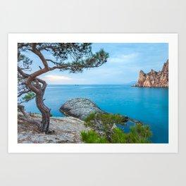 Minimalist Seascape. Coastal Sunrise. Ukraine. Crimea. Art Print