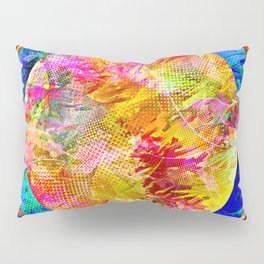 Hexagon in Complementary Colors Pillow Sham