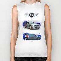mini cooper Biker Tanks featuring Cars: Mini Cooper S by Urbex :: Siam