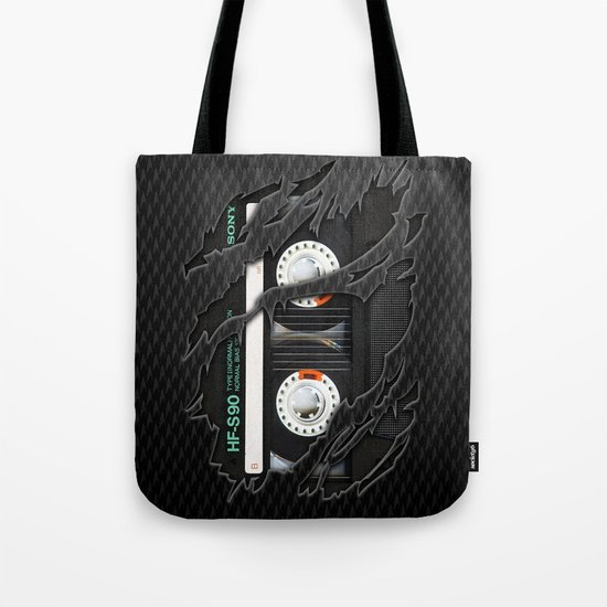 Classic retro sony cassette tape iPhone 4 4s 5 5c, ipod, ipad, tshirt, mugs and pillow case Tote Bag