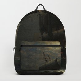 Schooner at Midnight off the Rhode Island Coast by James Gale Tyler Backpack