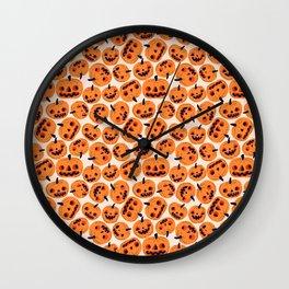 Halloween Jacks Wall Clock