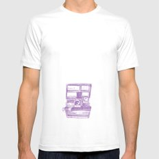 Camera Sketch 4 Mens Fitted Tee White MEDIUM