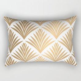 Art Deco Pattern in Gold Rectangular Pillow