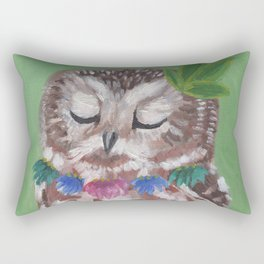 What Does the Owl Dream? Rectangular Pillow