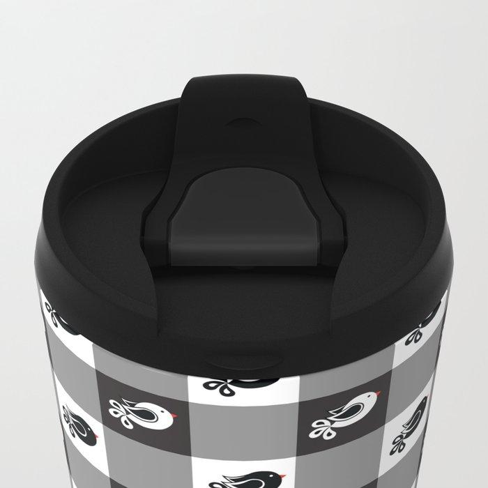 Pattern B Metal Travel Mug