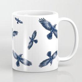 Soaring Ravens Pattern. Coffee Mug