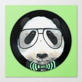Fancy Panda on Vinyl Canvas Print