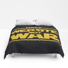 make website not war Comforters