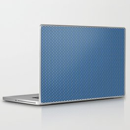Navy Spotty Pattern Design Laptop & iPad Skin