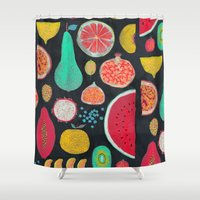 fruit Shower Curtains featuring Fruit by Mouni Feddag