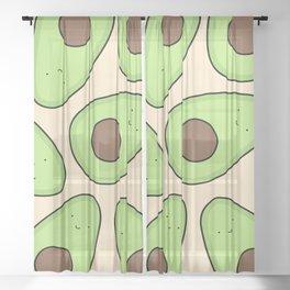 Cute Avocado Pattern Sheer Curtain