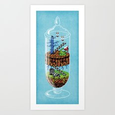 Belmont Terrarium Art Print