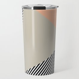 Stripes & Triangles - Peach & Mint Travel Mug