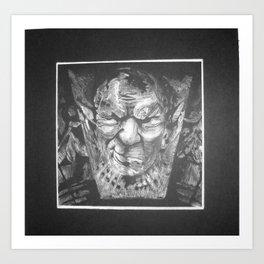 Mr. Gargoyle Art Print