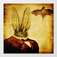 bat man Canvas Prints featuring Bat-Man by Joe Ganech