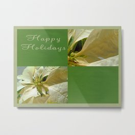 Pale Yellow Poinsettia 1 Happy Holidays Q5F1 Metal Print