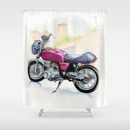 Rosso Honda (Motocicletalia) Shower Curtain