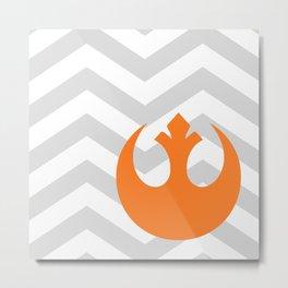 Star Wars Rebel Alliance Chevrons Metal Print