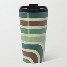 Retro Stripes Pattern Travel Mug