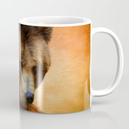 Grizzly Bear Painted Coffee Mug