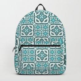 Moroccan Tile Geometric Mandala Backpack
