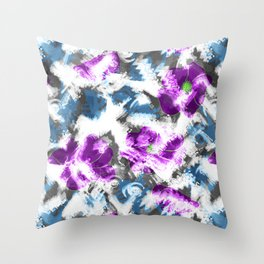"""""""Watercolor glamour """". Lilac - blue. Throw Pillow"""