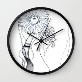 Flower Hair Wall Clock