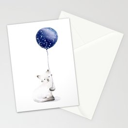 Cat With Balloon Stationery Cards