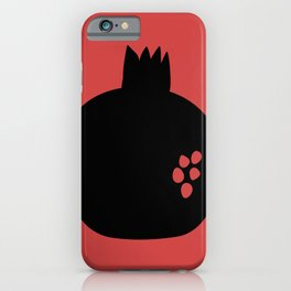 Black pomegranate and seeds iPhone Case
