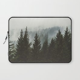 Forest Fog Mountain IV - Wanderlust Nature Photography Laptop Sleeve