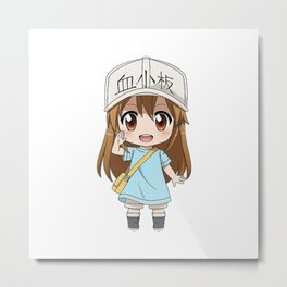 Hataraku Saibou Cells at Work Metal Print
