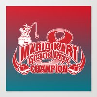 mario kart Canvas Prints featuring Mario Kart 8 Champion by Kody Christian
