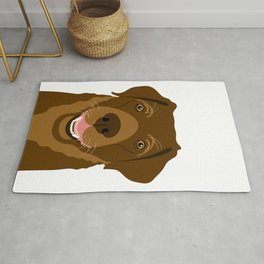 Chocolate Labrador Portrait Rug