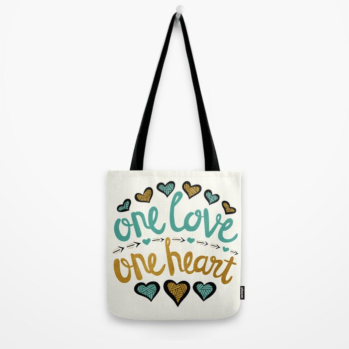 One Love One Heart Tote Bag